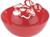 红色塑料果盘,喜庆又实用~