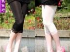 义乌夏季打底裤批发 新款时尚女装蕾丝边冰
