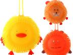 发光儿童玩具 软胶香味闪光毛毛球手摇闪 卡通密毛球