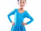 厂家批发直销长袖连体儿童舞蹈练功演出服广播体操服形体服芭蕾裙