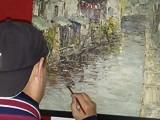 李銅手繪風景油畫