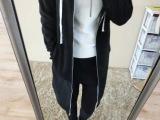 外贸原单冬季加厚保暖加绒外套 长款冬季拉链款女式外套 厂家直销