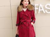 2014冬装新款高品质气质款鹿皮绒大衣 韩版奢华女外套 Y553