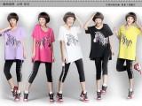 韩版夏季爆款短袖女T 中长款宽松女T恤 糖果色前短后长大码女T