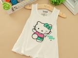 15夏款韩版女童背心裙外贸童装莫代尔儿童连衣背心裙男童小熊背心