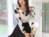 2015春秋韩版女装棉麻刺绣两件套中长裙大码显瘦长袖修身连衣裙