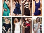 2014夏装新款韩版品牌女装时尚纯棉短袖连衣裙地摊货源批发