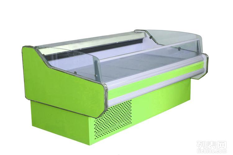 聊城熟食柜 聊城鲜肉柜蛋糕柜 海鲜冰鲜台聊城风幕柜常温柜