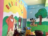 岳阳聚象幼儿园彩绘让植物生长在墙上