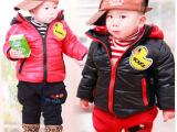 2013冬装新款外套|婴幼童可爱小黄鸭加厚棉外套|男女中小童装批