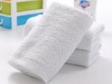 厂家现货供应21纱100克白色纯棉毛巾34*74cm酒店宾馆洗浴