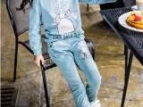 12元春秋新款童装 尾货韩版两件套批发 儿童时尚圆领卫衣套装
