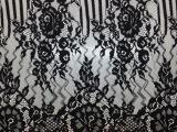 无弹蕾丝花边黑色 1.5m幅宽压纱睫毛蕾丝花边 服装婚纱辅料现货