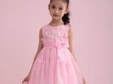 童装女童女大童夏装连衣裙2014款白色小女孩公主裙礼服裙儿