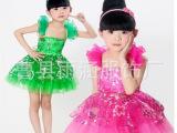 新款春晓舞蹈演出服装儿童演出服六一儿童表演舞蹈舞女童合唱服