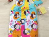 儿童全棉舒适幼儿园被子婴儿床品三件套 多色可选可拆洗
