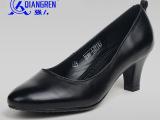 【3515强人正品】通勤女靴X-07A 女式浅口软牛皮舒适高跟一