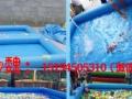 移动式支架游泳水池 充气城堡水滑梯 鲸鱼岛乐园 水上冲关蹦极