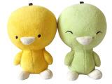 7宿 原创正版 小鸡彩虹 可爱 卡通 绿色包包挂件 钥匙扣 包饰