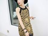 外贸2014欧洲站夏季新款 复古时髦印花连衣裙