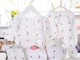 婴儿内衣内裤五件套装 初生宝宝纯棉和尚服 卡通印花绑带礼盒批发