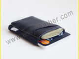 韩版便携式松紧带钱夹 pu钱包卡夹 名片