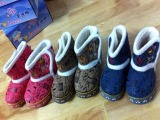 盒装 童鞋批发2012新款冬儿童雪地靴男童冬靴低筒韩版短靴