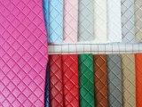 小方格皮革 高档箱包手袋革装饰革面料 墙