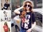 呼和浩特便宜女装T恤货源时尚韩版女装T恤厂家库存T恤低价跑量