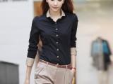 2014春装新款 时尚爆款OL女士韩版衬衣 修身显瘦女款长袖职业