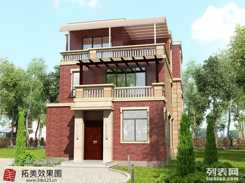 承接厦门效果图制作 自建房 别墅外观整体效果图制作