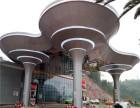 高速公路加油站蘑菇形银灰色铝单板工程