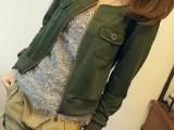 2014春装新款女装 圆领小夹克外套 休闲开衫短外套