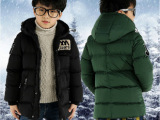 童装2015新款儿童棉衣中大童保暖加厚男童羽绒棉袄冬装外套