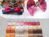 特价供应25mm双面丝带绸带 diy手工发饰蝴蝶结材料 24色小