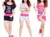 2014夏装新款卫衣女韩版卫衣套装女夏薄款运动套装女款