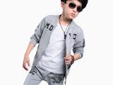 童装男童秋装老虎棒球服儿童长袖套装岁男孩外套