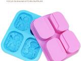 硅胶模具 四孔天使模具 手工皂模具 男女小天使模组合模 肥皂模