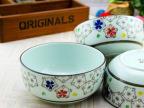 5/7/8/9寸 高温色釉 釉下彩 陶瓷米饭碗 韩式碗 手彩汤碗