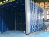 厂家直供西安钢结构厂移动伸缩喷漆房及配套环保设备