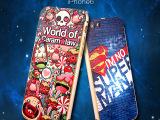 新款iphone6手机壳 金属边框亚克力背板 卡通彩绘浮雕 创意