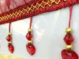 厂家直销 窗帘花边珠子 蕾丝纱边爱心珠 特价12米一件
