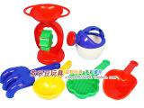 儿童沙滩玩具套装 沙漏挖沙工具戏水玩沙 宝宝玩具 6件套