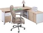 未央区出售九成新办公桌椅员工位屏风隔断书柜文件柜沙发茶几