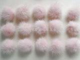 供应服装服饰装饰品毛毛球 4cm水貂毛毛球 几十种颜色可选