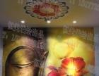 柳州墙绘恒美艺术空间硅藻泥店墙绘案例