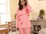 春秋季孕妇睡衣 一件代发长袖产妇睡衣月子服纯棉套装家居服哺乳