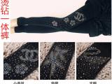 秋冬新款 烫钻一体裤 加绒加厚保暖九分踩脚裤 黑色打底女袜批发