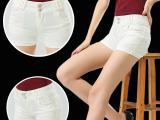 夏装新款韩版潮磨破宽松卷边显瘦白色牛仔短裤女大码热裤厂家直销