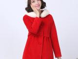 流星之恋2014新款少女冬装韩版中学生毛呢外套女甜美毛领呢子大衣